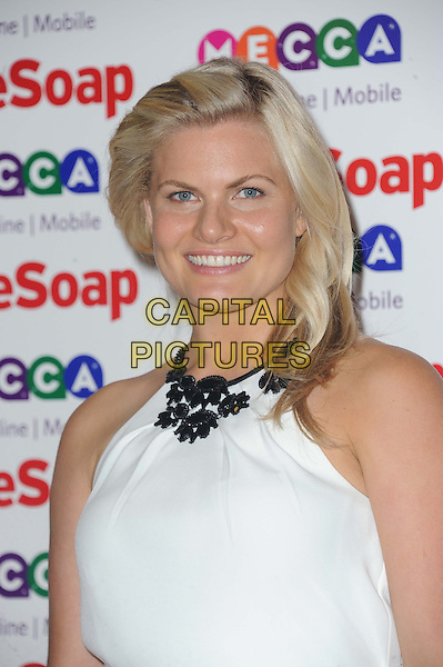 Bonnie Sveen<br /> Inside Soap Awards at Ministry Of Sound, London, England.<br /> 21st October 2013<br /> headshot portrait white sleeveless black collar detail   <br /> CAP/DS<br /> &copy;Dudley Smith/Capital Pictures