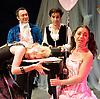 Prima La Musica<br /> Opera At Home Ensemble<br /> at The Arcola Theatre, London, Great Britain <br /> 25th August 2011 <br /> Rehearsal <br /> Grimeborn The Opera Festival<br /> directed by Jose Manuel Gandia<br /> <br /> Alexia Mankovskaya (as Eleonora)<br /> Victor Sgarbi (as Maestro)Dario Dugandzic (as Poeta)<br /> Merrin Lazyan (as Tonina)<br /> <br /> Photograph by Elliott Franks