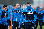 Lee McCulloch wrapped up against the wind