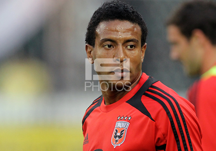 WASHINGTON, DC. - AUGUST 22, 2012:  Lionard Pajoy (26)  of DC United against the Chicago Fire during an MLS match at RFK Stadium, in Washington DC,  on August 22. United won 4-2.