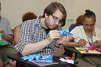 OrigamiUSA 2016 Convention at St. John's University, Queens, New York, USA. Nathan Zeichner, New York in a class taught by Scott Cramer, Rock Crystal.