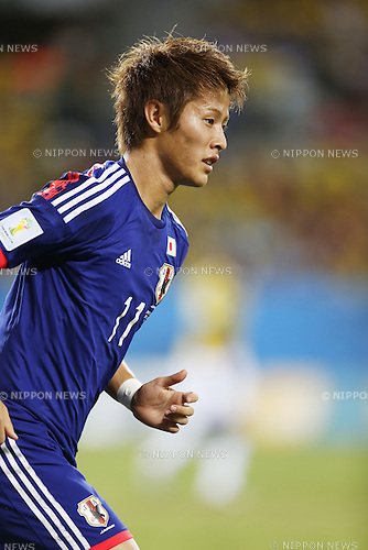 Yoichiro Kakitani (JPN), JUNE 24, 2014 - Football / Soccer : FIFA World Cup Brazil 2014 Group C match between Japan 1-4 Colombia at the Arena Pantanal in Cuiaba, Brazil. (Photo by AFLO)