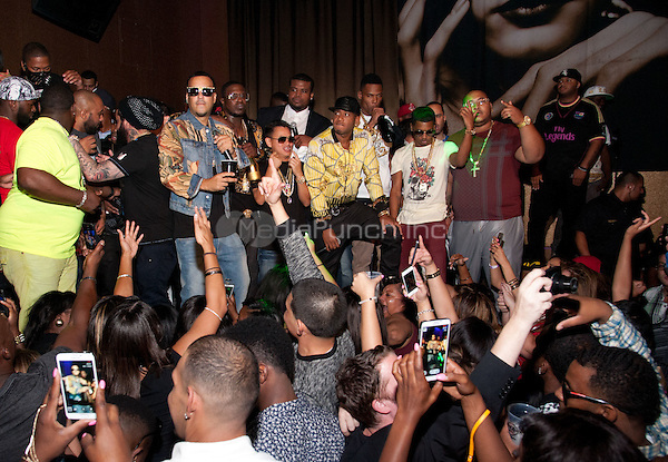 LAS VEGAS, NV - September 12:  French Montana hosts at Vanity Nightclub at Hard Rock Hotel & Casino in Las Vegas, NV on September 12, 2014. Credit: RTNEKPhotography/MediaPunch ***HOUSE COVERAGE***