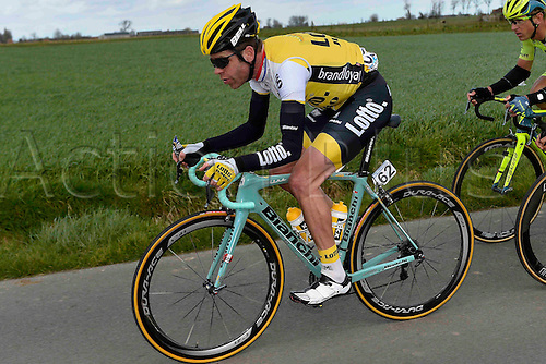 27.03.2016. Deinze, Belgium.  TANKINK Bram (NED) Rider of TEAM LOTTO NL - JUMBO in action during the Flanders Classics UCI World Tour 78nd Gent-Wevelgem cycling race with start in Deinze and finish in Wevelgem