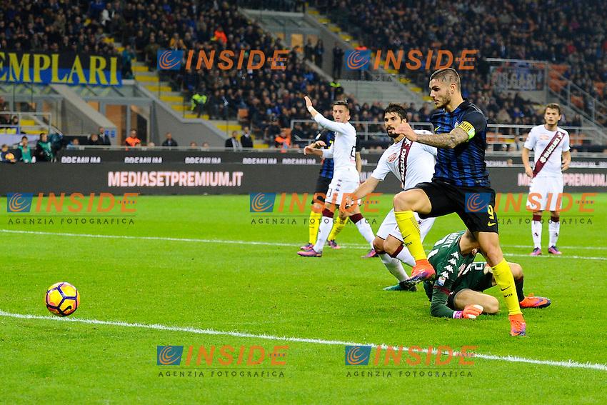 Gol di Mauro Icardi Inter 1-0. Celebration goal<br /> Milano 26-10-2016 Stadio Giuseppe Meazza - Football Calcio Serie A Inter - Torino. Foto Giuseppe Celeste / Insidefoto