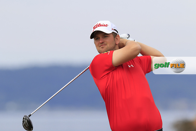 Bernd WIESBERGER (AUT) tees off the 18th tee during Thursday's Round 1 of the 2015 U.S. Open 115th National Championship held at Chambers Bay, Seattle, Washington, USA. 6/18/2015.<br /> Picture: Golffile | Eoin Clarke<br /> <br /> <br /> <br /> <br /> All photo usage must carry mandatory copyright credit (&copy; Golffile | Eoin Clarke)