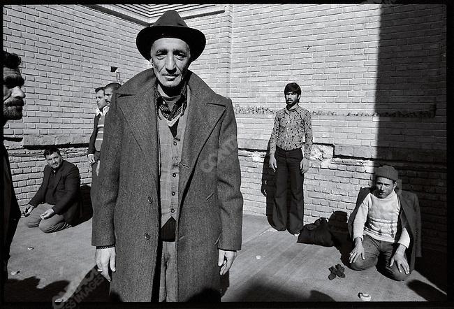 Near the central market after Friday prayers. Tehran, January 12, 1979