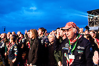 Scouts saying their scout promise at the opening ceremony. Photo: Audun Ingebrigtsen / Scouterna