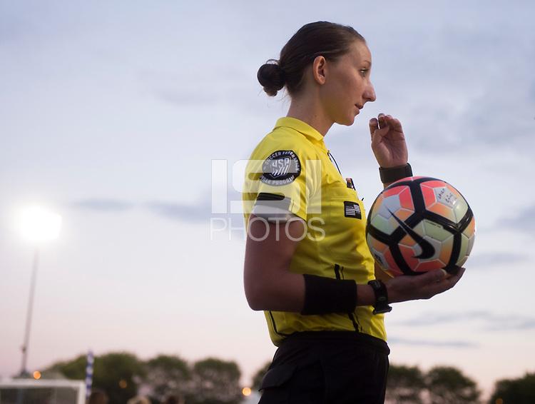 Boyds, MD - Saturday September 30, 2017: Danielle Chesky during a regular season National Women's Soccer League (NWSL) match between the Washington Spirit and the Seattle Reign FC at Maureen Hendricks Field, Maryland SoccerPlex.