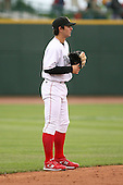 June 17th 2008:  Pete Kozma of the Quad Cities River Bandits, Class-A affiliate of the St. Louis Cardinals, during the Midwest League All-Star Game at Dow Diamond in Midland, MI.  Photo by:  Mike Janes/Four Seam Images