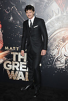 www.acepixs.com<br /> <br /> February 15 2017, LA<br /> <br /> Pedro Pascal arriving at the premiere of 'The Great Wall' at the TCL Chinese Theatre on February 15, 2017 in Hollywood, California. <br /> <br /> By Line: Peter West/ACE Pictures<br /> <br /> <br /> ACE Pictures Inc<br /> Tel: 6467670430<br /> Email: info@acepixs.com<br /> www.acepixs.com