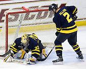 Andrew Brathwaite (Merrimack - 33), Fraser Allan (Merrimack - 2) - The Boston College Eagles defeated the Merrimack College Warriors 7-0 on Tuesday, February 23, 2010 at Conte Forum in Chestnut Hill, Massachusetts.