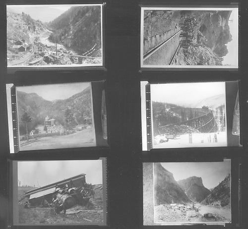 Sheet of six 2&quot;x3&quot; Colorado Midland scenes.<br /> Colorado Midland
