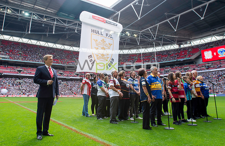 Picture by Allan McKenzie/SWpix.com - 27/08/2016 - Rugby League - Ladbrokes Challenge Cup Final - Hull FC v Warrington Wolves - Wembley Stadium, London, England -