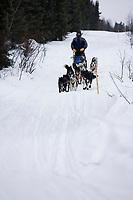 Robert Sorlie on Trail Out of Kaltag Chkpt Iditarod 2005