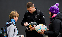 Exeter Chiefs' Joe Simmonds signs an autograph for a fan<br /> <br /> Photographer Bob Bradford/CameraSport<br /> <br /> Gallagher Premiership - Exeter Chiefs v Wasps - Saturday 30th November 2019 - Sandy Park - Exeter<br /> <br /> World Copyright © 2019 CameraSport. All rights reserved. 43 Linden Ave. Countesthorpe. Leicester. England. LE8 5PG - Tel: +44 (0) 116 277 4147 - admin@camerasport.com - www.camerasport.com