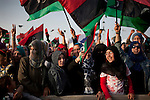 Misratan women at a celebration after the National Transitional Council officially declared liberation, Misrata, Libya, Oct. 23, 2011. The Council had promised to wait until the fall of Sirte to declare Libya free and begin forming a new government.