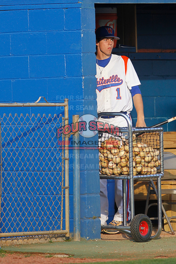 Whiteville High School Wolfpack pitcher MacKenzie Gore (1)  before a game against the South Columbus High School Stallions at Legion Stadium on March 28, 2017 in Whiteville, North Carolina. Whiteville defeated South Columbus 3-2. (Robert Gurganus/Four Seam Images)