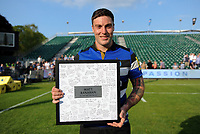 Matt Banahan of Bath Rugby poses for a photo after the match. Aviva Premiership match, between Bath Rugby and London Irish on May 5, 2018 at the Recreation Ground in Bath, England. Photo by: Patrick Khachfe / Onside Images
