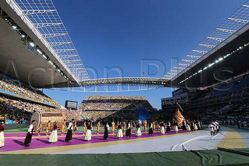 12.06.2014. Sao Paulo, Brazil. World Cup finals 2014. Opening game, Brazil versus Croatia. Opening ceremony