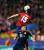 Atletico Madrid´s Savic and Bayer Munich Lewandowski