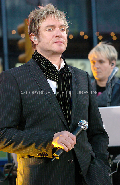 WWW.ACEPIXS.COM . . . . .  ....NEW YORK, OCTOBER 12, 2004....Simon Le Bon on Good Morning America to launch the new Duran Duran album Astronaut. ..Please byline: AJ Sokalner - ACE PICTURES..... *** ***..Ace Pictures, Inc:  ..Alecsey Boldeskul (646) 267-6913 ..Philip Vaughan (646) 769-0430..e-mail: info@acepixs.com..web: http://www.acepixs.com