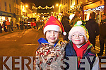 Pictured at the Santa parade in Killarney on Friday from left Hugh O'Hara and Darragh Brosnan.