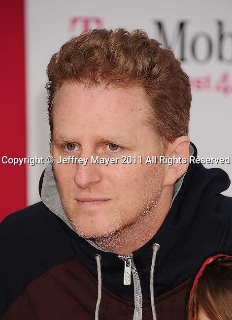 LOS ANGELES, CA - FEBRUARY 20: Michael Rapaport arrives at the T-Mobile Magenta Carpet at the 2011 NBA All-Star Game at L.A. Live on February 20, 2011 in Los Angeles, California.