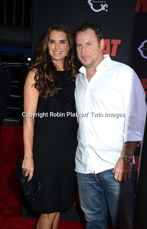 """Brooke Shields and husband Chris Henchy attends the New York Premiere of """"The Heat"""" on June 23,2013 at the Ziegfeld Theatre in New York City. The movie stars Sandra Bullock, Melissa McCarthy, Demian Bichir, Marlon Wayans, Joey McIntyre, Jessica Chaffin, Jamie Denbo, Nate Corddry, Steve Bannos, Spoken Reasons and Adam Ray."""