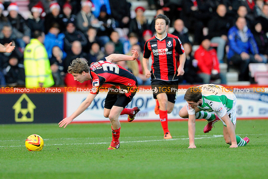 Eunan O'Kane of AFC Bournemouth keeps his eye on the ball - AFC Bournemouth vs Yeovil Town - Sky Bet Championship Football at the Goldsands Stadium, Bournemouth, Dorset - 26/12/13 - MANDATORY CREDIT: Denis Murphy/TGSPHOTO - Self billing applies where appropriate - 0845 094 6026 - contact@tgsphoto.co.uk - NO UNPAID USE