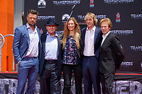 LOS ANGELES - MAY 23:  Josh Duhamel, Anthony Hopkins, Alwyn Hight Kushner, Michael Bay, Jerry Bruckheimer at the Michael Bay Hand And Footprint Ceremony at the TCL Chinese Theater IMAX on May 23, 2017 in Los Angeles, CA