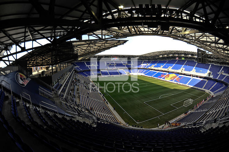 The interior of Red Bull Arena prior to a friendly between Santos FC and the New York Red Bulls at Red Bull Arena in Harrison, NJ, on March 20, 2010.