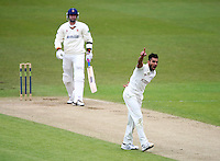 PICTURE BY VAUGHN RIDLEY/SWPIX.COM - Cricket - County Championship Div 2 - Yorkshire v Essex, Day 3 - Headingley, Leeds, England - 21/04/12 - Yorkshire's Ajmal Shahzad appeals for the wicket of Essex's David Masters.