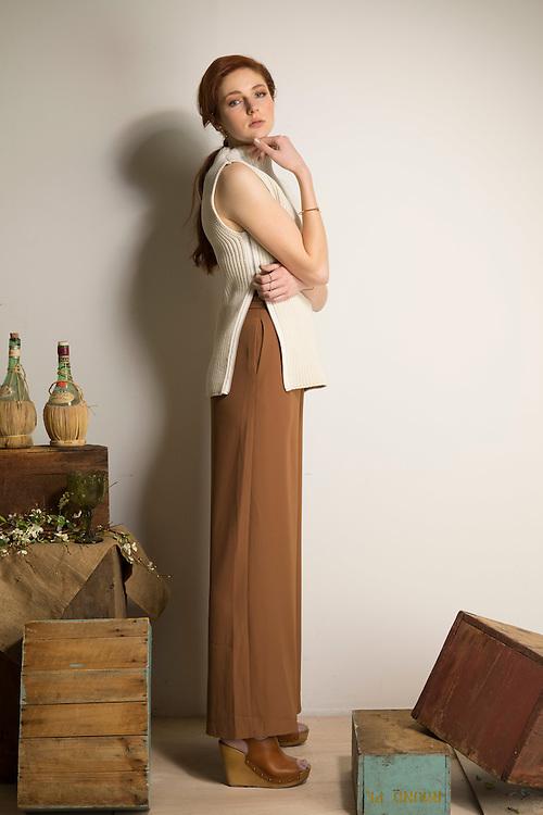 Sunday Mail fashion with Cimon, Neutrals, Model Bec Bawden from Azalia Models, ( bec_bawden@live.com.au  insta: @becbawden) Photo: Nick Clayton