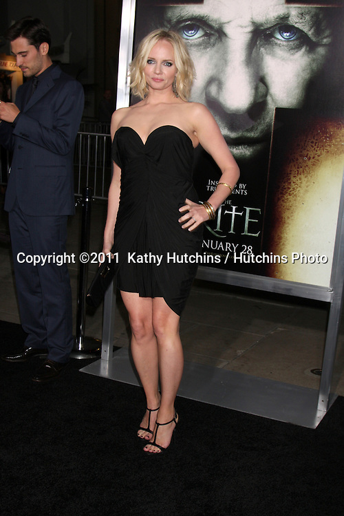 """LOS ANGELES - JAN 26:  Marley Shelton arrives at """"The Rite"""" Premiere at Grauman's Chinese Theater on January 26, 2011 in Los Angeles, CA"""