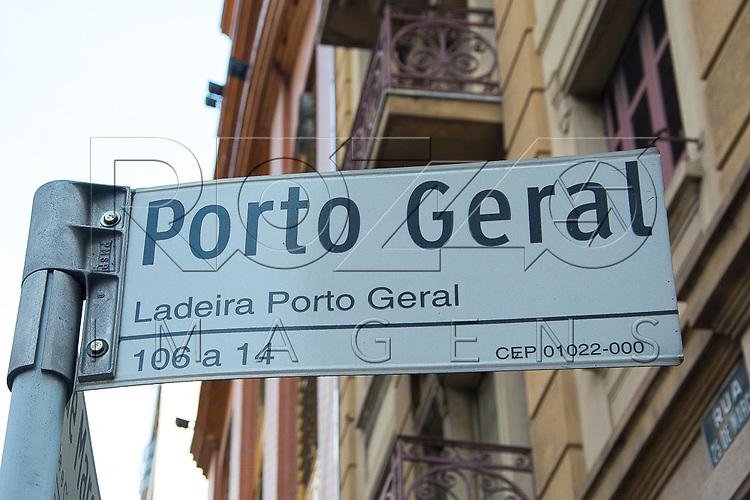 Placa da Ladeira Porto Geral, São Paulo - SP, 10/2016.