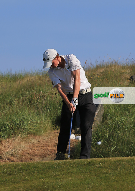 Paul Dunne (Greystones) on the 11th during the 1st round of the Irish Amateur Close Championship 2013 at the Connemara Golf Club Sat  8/6/13<br /> Picture:  Thos Caffrey www.golffile.ie