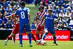 Getafe CF's Francisco Portillo (L), Mauro Arambarri and Girona FC's Paik during La Liga match. May 05,2019. (ALTERPHOTOS/Alconada)