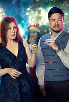 Office Christmas Party (2016)<br /> Promotional art with Randall Park &amp; Vanessa Bayer<br /> *Filmstill - Editorial Use Only*<br /> CAP/KFS<br /> Image supplied by Capital Pictures