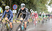 8th September 2017, Newmarket, England; OVO Energy Tour of Britain Cycling; Stage 6, Newmarket to Aldeburgh; THOMAS Geraint of Team Sky and EWAN Caleb of Orica-Scott