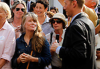 Actress Sissy Spacek waited to shake hands with President Barack Obama during a campaign stop in Charlottesville, VA.