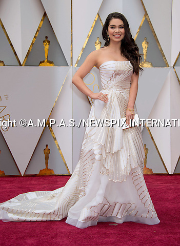 26.02.2017; Hollywood, USA: Auli&rsquo;i Cravalho<br /> attends The 89th Annual Academy Awards at the Dolby&reg; Theatre in Hollywood.<br /> Mandatory Photo Credit: &copy;AMPAS/NEWSPIX INTERNATIONAL<br /> <br /> IMMEDIATE CONFIRMATION OF USAGE REQUIRED:<br /> Newspix International, 31 Chinnery Hill, Bishop's Stortford, ENGLAND CM23 3PS<br /> Tel:+441279 324672  ; Fax: +441279656877<br /> Mobile:  07775681153<br /> e-mail: info@newspixinternational.co.uk<br /> Usage Implies Acceptance of Our Terms &amp; Conditions<br /> Please refer to usage terms. All Fees Payable To Newspix International
