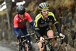 Simon Yates (GBR) Mitchelton-Scott and Ion Izagirre (ESP) Bahrain-Merida attack during a wet miserable Stage 7 of the 2018 Paris-Nice running 175km from Nice to Valdeblore la Colmiane, France. 10th March 2018.<br /> Picture: ASO/Alex Broadway | Cyclefile<br /> <br /> <br /> All photos usage must carry mandatory copyright credit (&copy; Cyclefile | ASO/Alex Broadway)