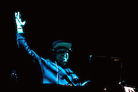CIUDAD DE MÉXICO, D.F.- Agosto 29, 2013.-  La  cantante española, María Rodríguez Garrido, conocida como Mala Rodríguez o La Mala, durante su concierto donde promociona su más reciente producción, Bruja, en el Plaza Condesa de la Ciudad de México, el 27 de agosto de 2013. En la imagen, el Dj Jekey.  FOTO: ALEJANDRO MELÉNDEZ<br /> <br /> MEXICO CITY, DF-August 29, 2013. - The Spanish singer María Rodríguez Garrido, known as La Mala Mala Rodríguez or during their concert which promotes its latest production, Witch, at the Plaza Condesa in Mexico City, on August 27, 2013. In the picture, the Dj Jekey. PHOTO: ALEJANDRO MELENDEZ
