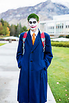 _E1_2131<br /> <br /> 1610-85 GCI Halloween Costumes<br /> <br /> October 31, 2016<br /> <br /> Photography by: Nathaniel Ray Edwards/BYU Photo<br /> <br /> &copy; BYU PHOTO 2016<br /> All Rights Reserved<br /> photo@byu.edu  (801)422-7322<br /> <br /> 2131