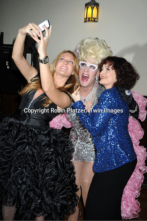 """BethAnn Bonner, Viscountess Doris Dear and Robin Strasser attends The """"Daytime Meets Nighttime"""" hosted by .The Imperial Court of New York on November 4, 2011 at .The Jan Hus Theatre in New York City. The benefit was for The Jan Hus Theatre and Lifebeat."""