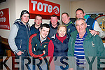 Enjoying the Irish National Coursing in Clonmel, Co Tipp last Sunday were(front) Martin O'Mahony (Listowel), Geraldine Enright (Tralee) and Tom O'Sullivan (Ballyduff). Back l-r: Sean Lyons (Listowel), Damian Lynch (Ballyduff), Ian O'Carroll (Listowel), Shane Herbert (Kilflynn) and TP McNamara (Lisselton.