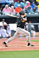 Northern Division left fielder Ty Moore (22) of the West Virginia Drive swings at a pitch during the South Atlantic League All Star Game at Spirit Communications Park on June 20, 2017 in Columbia, South Carolina. The game ended in a tie 3-3 after seven innings. (Tony Farlow/Four Seam Images)