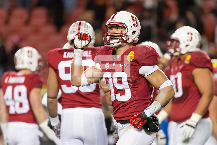 Santa Clara, CA - December 30, 2014: 2014 Foster Farms Bowl between the Stanford Cardinal and the Maryland Terrapins at Levi's Stadium.  Stanford defeated Maryland 45-21.