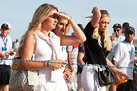 Paulina Gretzky in black top who is the fianc&eacute; of Dustin Johnson watches Dustin play the 17th hole during the 118th U.S. Open Championship at Shinnecock Hills Golf Club in Southampton, NY, USA. 17th June 2018.<br /> Picture: Golffile | Brian Spurlock<br /> <br /> <br /> All photo usage must carry mandatory copyright credit (&copy; Golffile | Brian Spurlock)